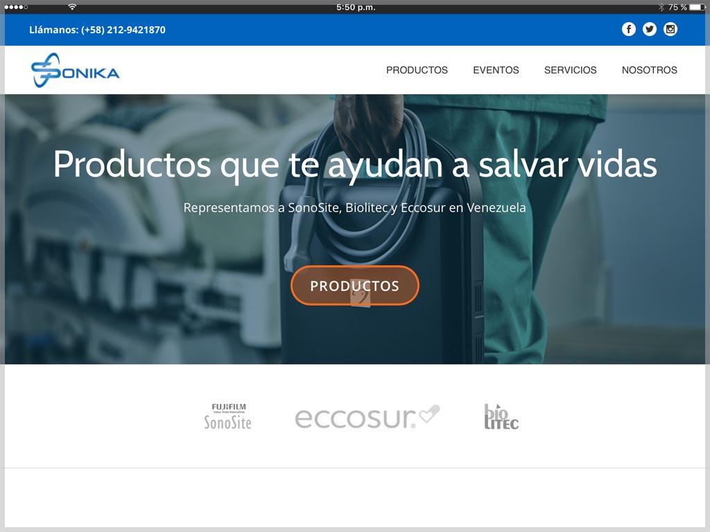 Web de Sonika Venezuela