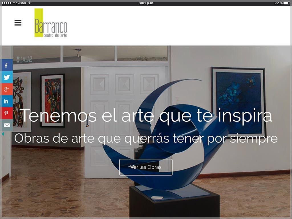 Web de Centro de Arte Barranco