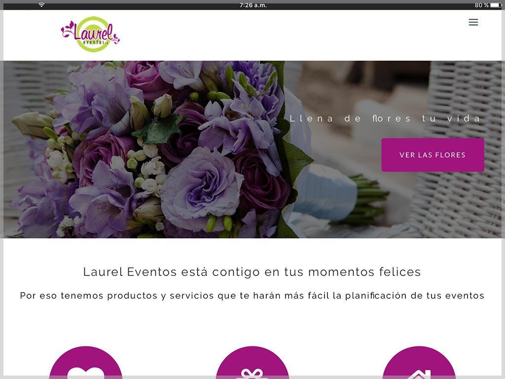 Web de Laurel Eventos