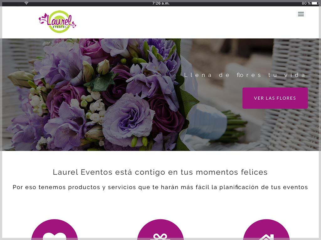 Web de Laurel Eventos