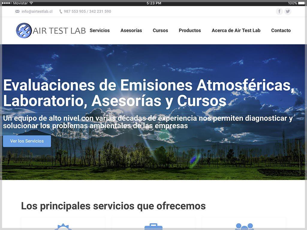 Web de Air Test Lab