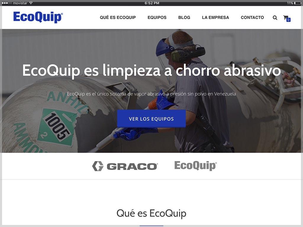 Web de EcoQuip Venezuela