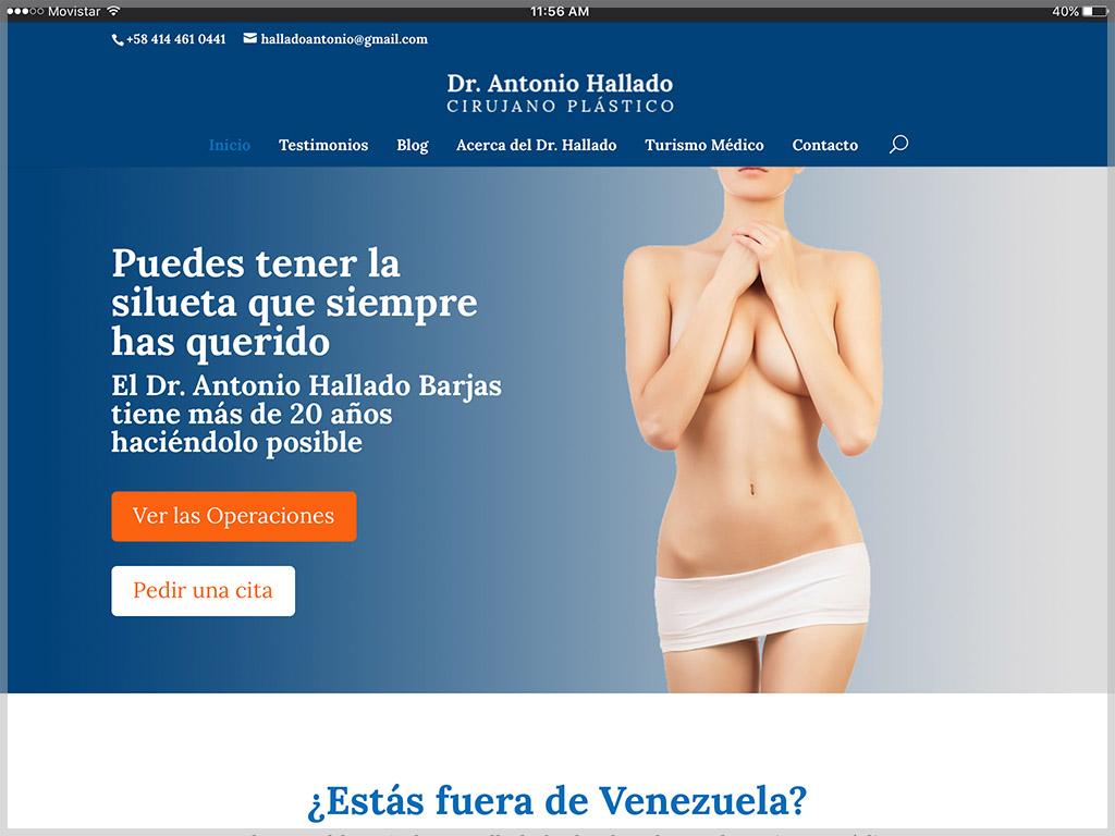 Web del Dr. Antonio Hallado 2017