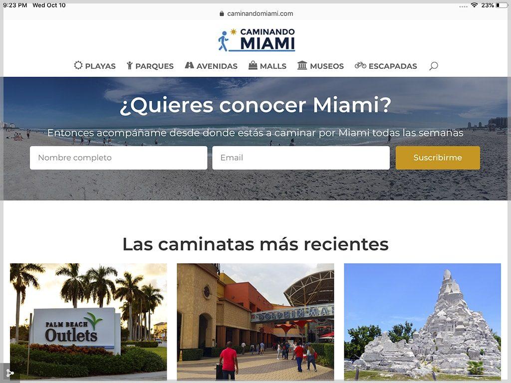 Web de Caminando Miami