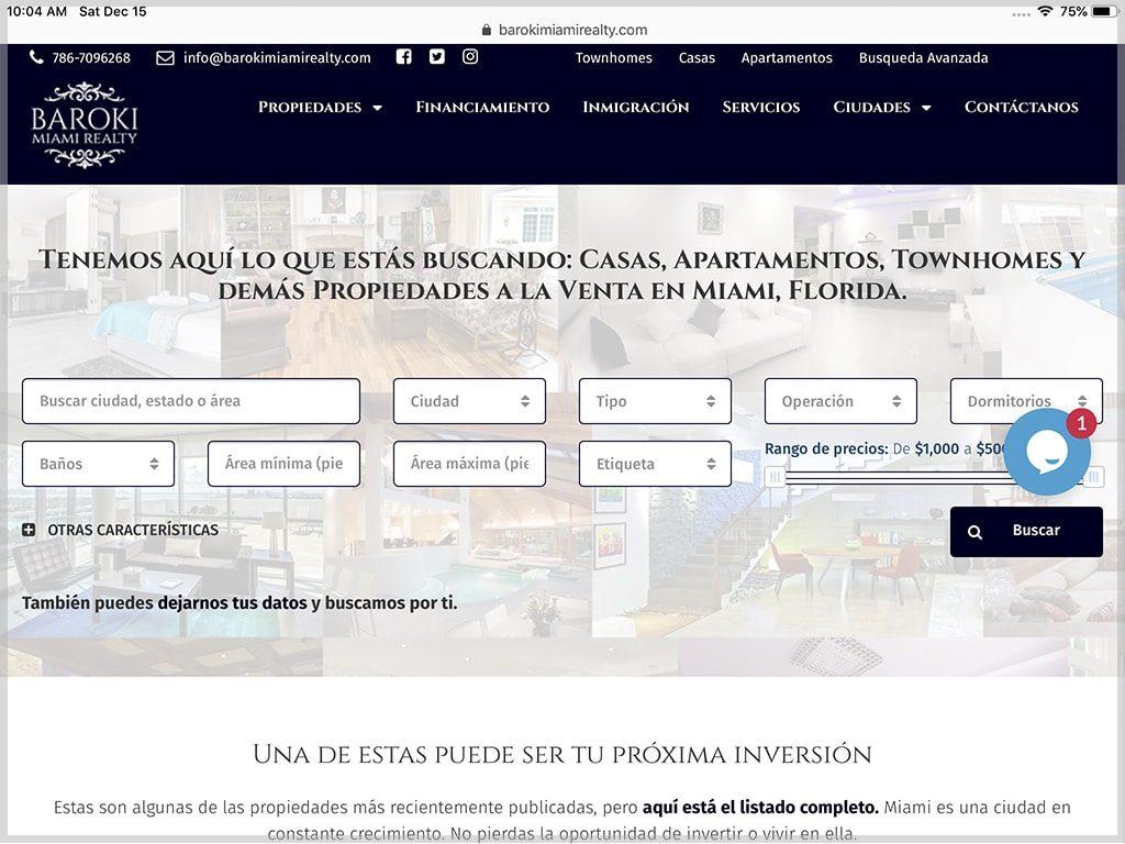 Web de Baroki Miami Realty