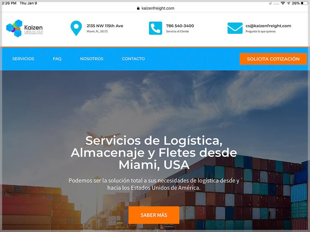 Web de Kaizen Logistics