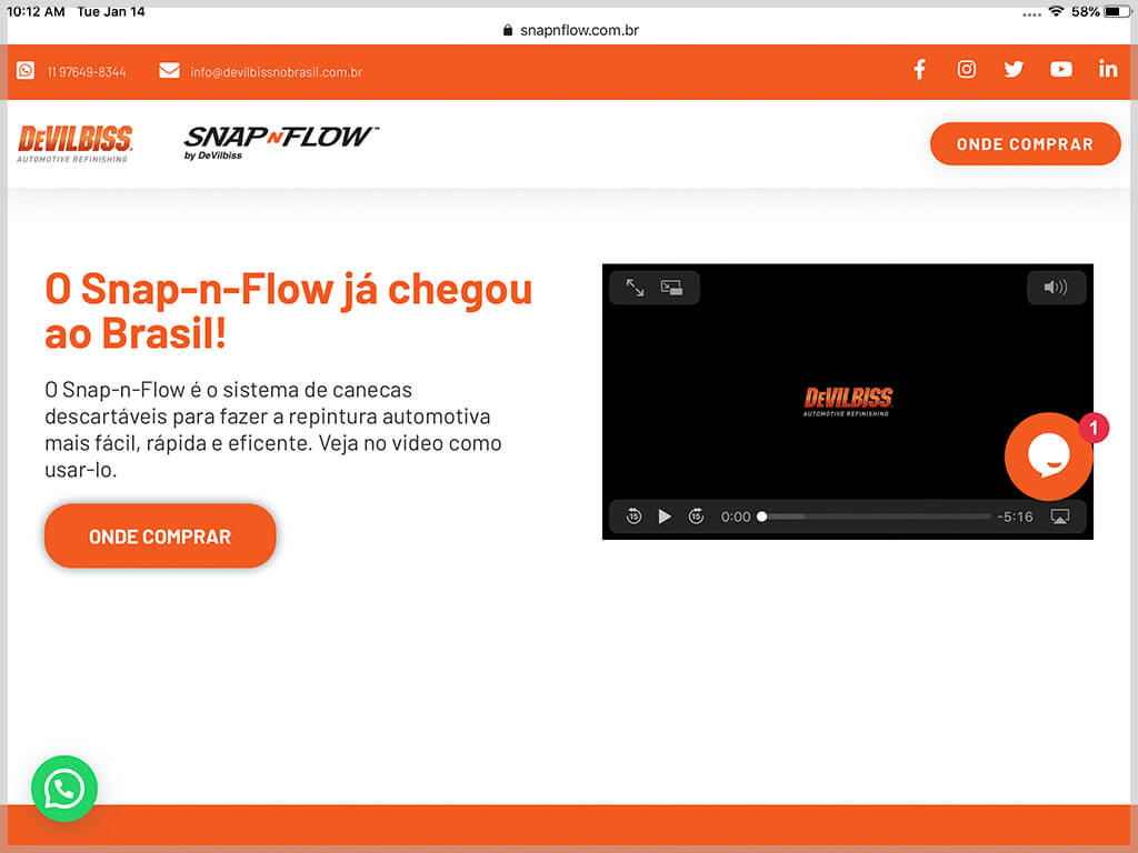 Web de Snap-n-Flow