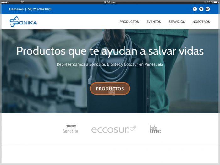 Sonika Venezuela Website