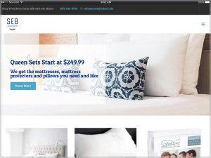 SEB Mattress Miami Website