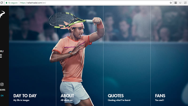 Rafael Nadal has his own personal website