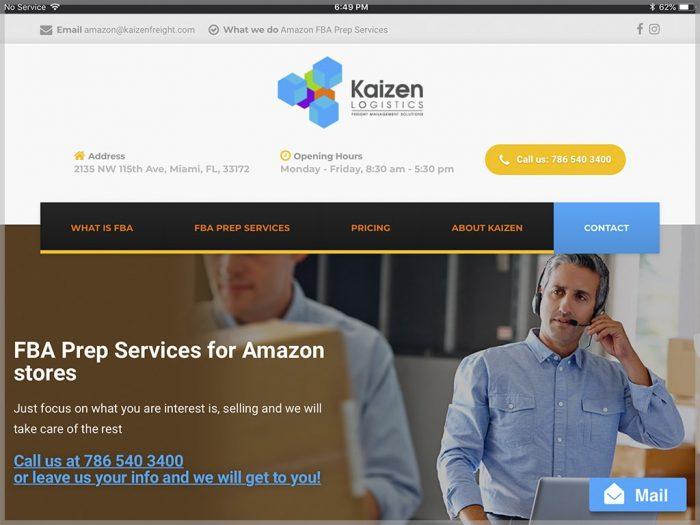 Kaizen Prep Services Website