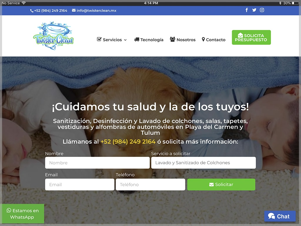 Twister Clean Website