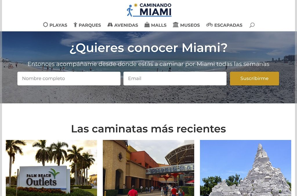 Caminando Miami Website