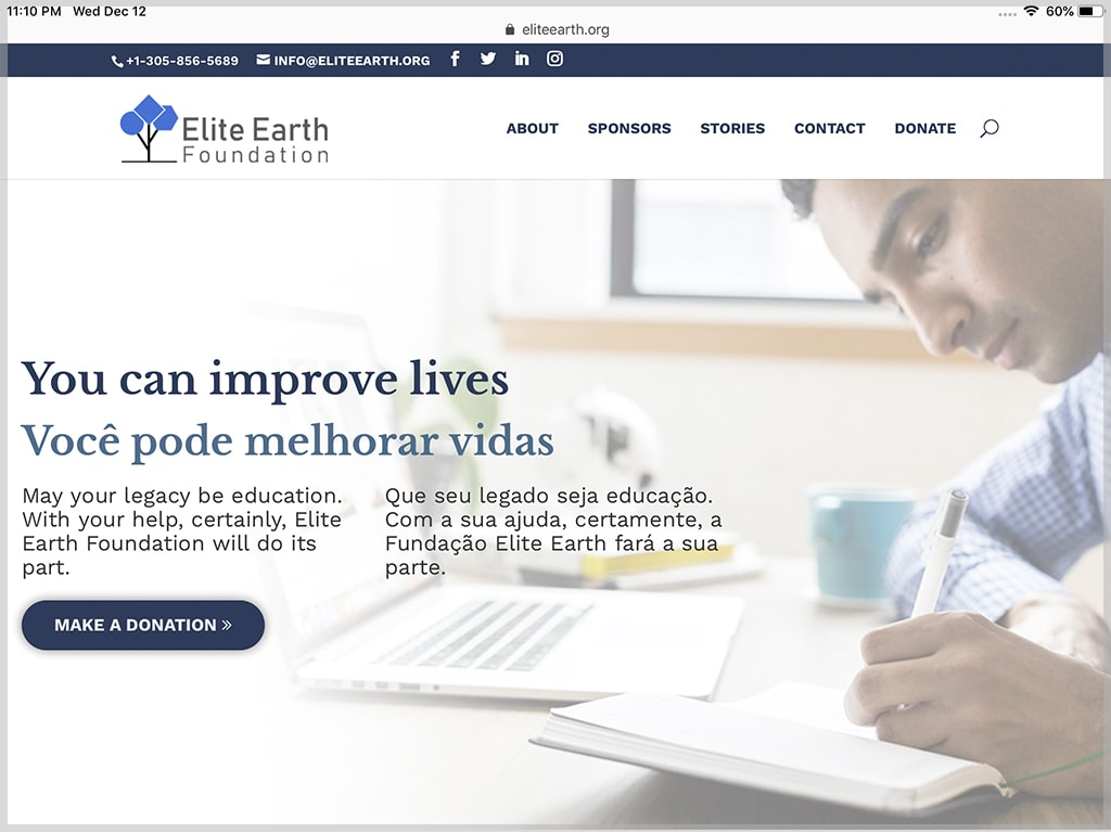 Elite Earth Foundation Website