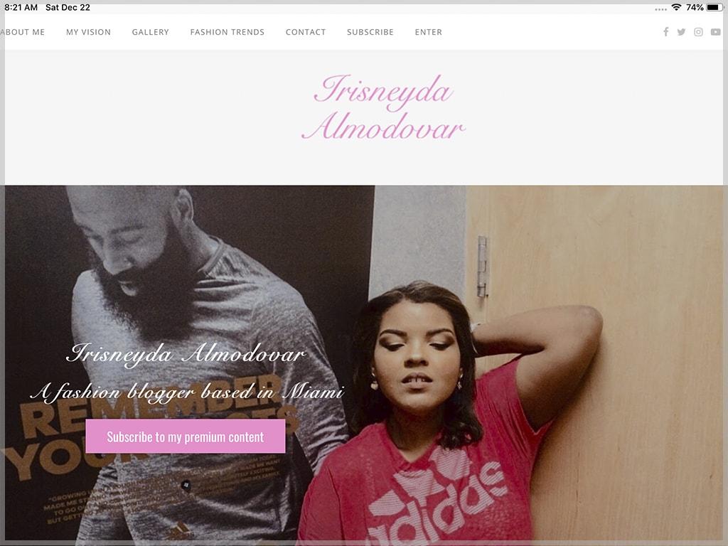 Irisneyda Almodovar Website