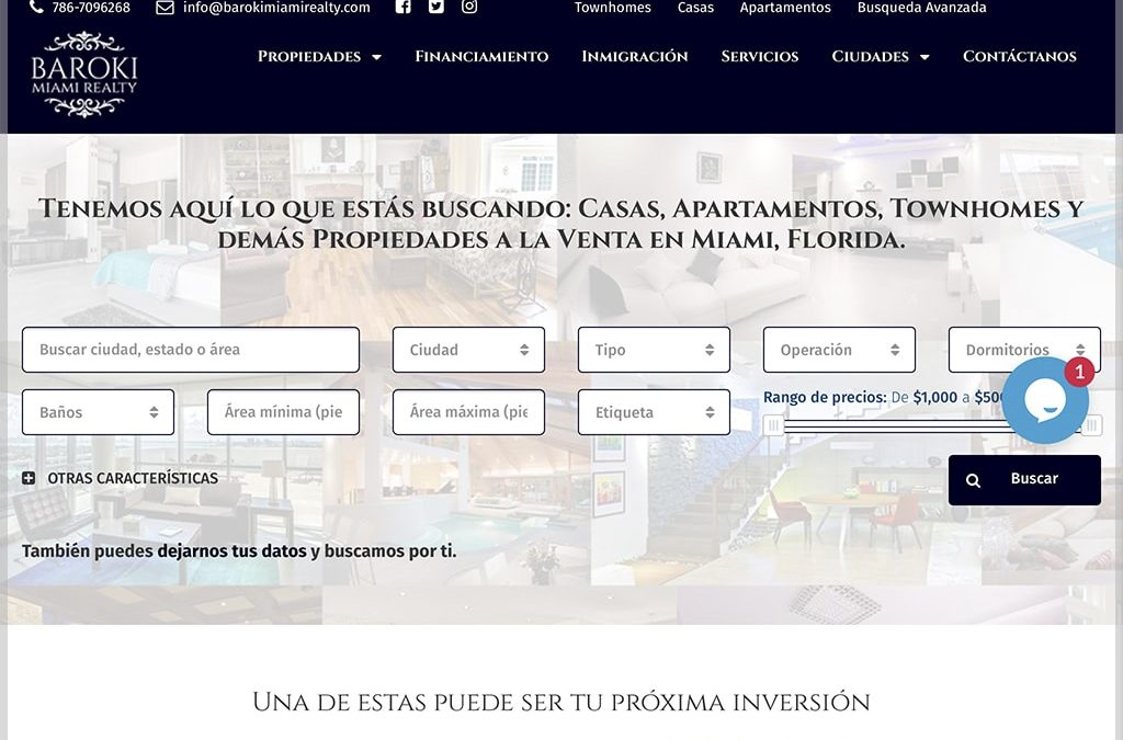 Baroki Miami Realty Website