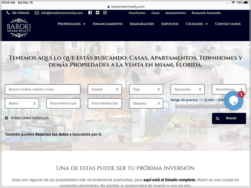 Baroki Miami Realty Website